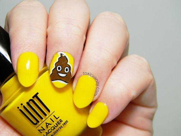 Emoji Nail Art - Poop Emoji Nail Art Design Emoji Nails Pinterest Emoji Nails