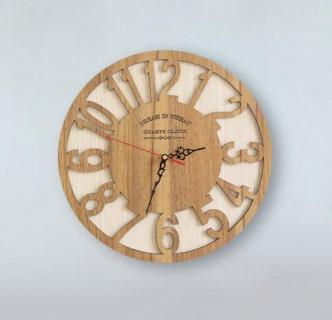 Pastoral Creative Wooden Wall Clock Price 68 16 Free
