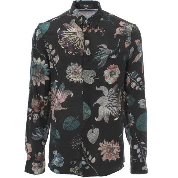 cf21bac07d Versus Versace Aquarello Print Silk Shirt (13.715 RUB) ❤ liked on ...