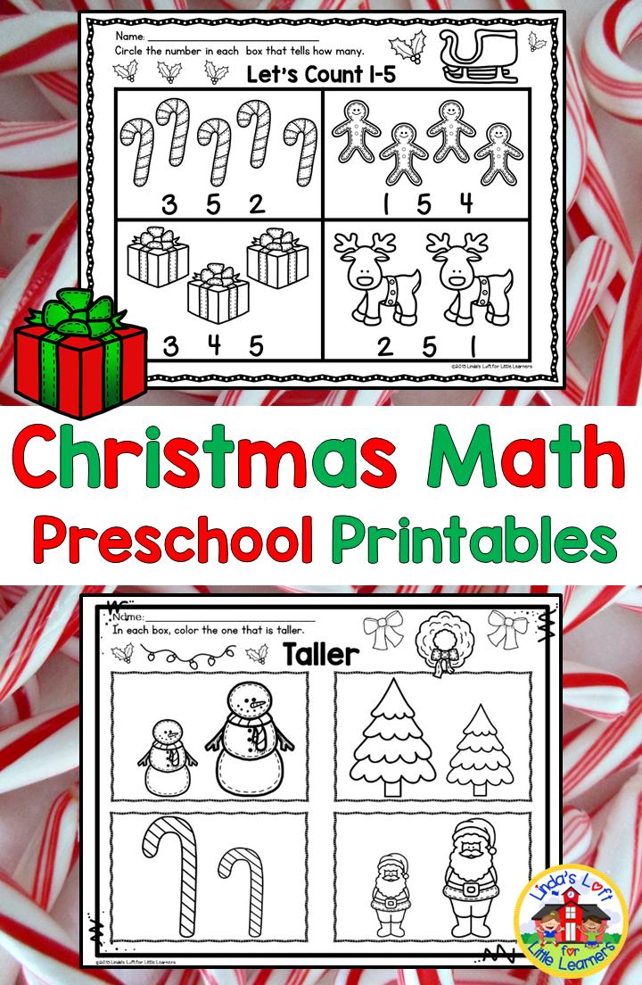 Christmas Math Preschool Printables Subitizing Christmas Math And