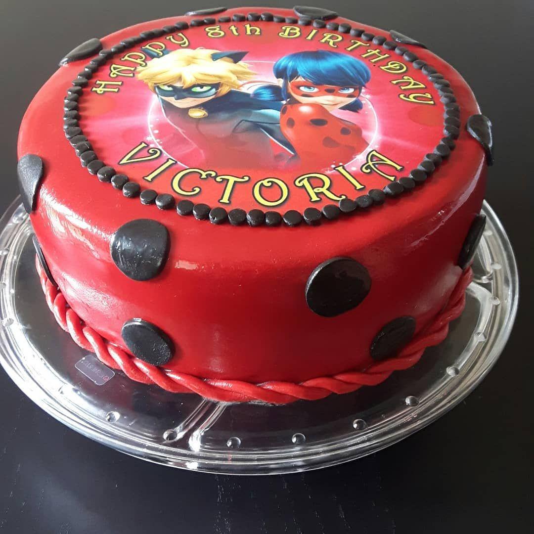 Swell Childrens Birthday Cake Miraculous Ladybug Birthdaycake Funny Birthday Cards Online Aeocydamsfinfo