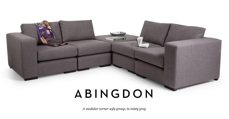 Abingdon Modular Corner Sofa Group In Misty Grey Made Com Modular Corner Sofa Corner Sofa Corner Sofa Uk