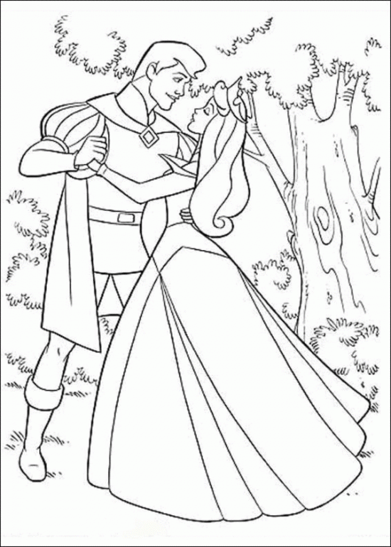 Princess Aurora Dancing With Prince Coloring Pages Disney Princess Coloring Pages Princess Coloring Pages Sleeping Beauty Coloring Pages