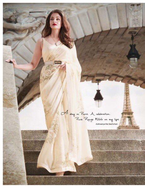db542ade406891 Aishwarya Rai Bachchan in Designer Sabyasachi Mukherjee Saree & Loreal  Paris Make Up 2018
