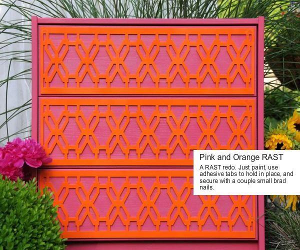 Die RAST Kommode von Ikes in leuchtenden Farben. Die pink/orange Kombination macht Lust auf Sommer und Sonne