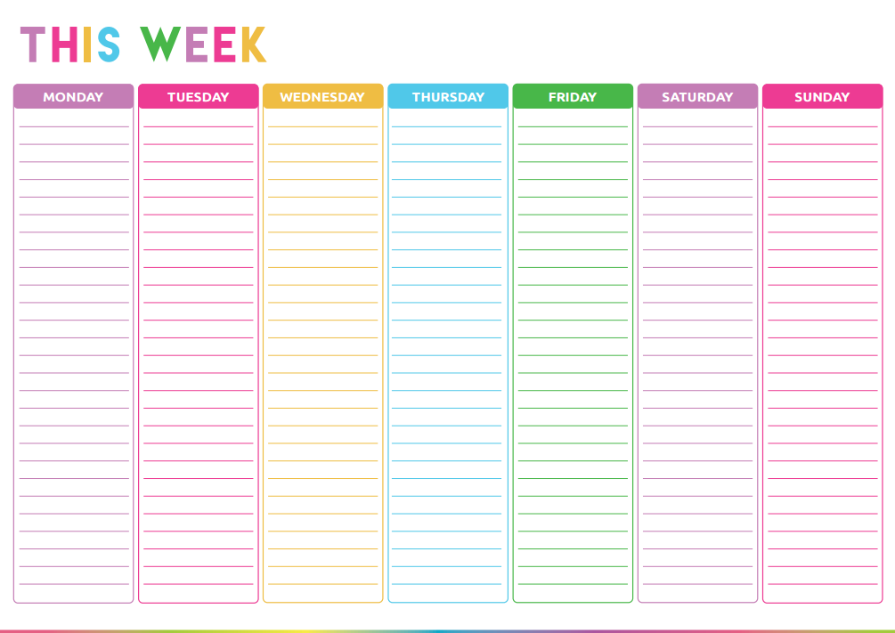 Free Printable Weekly To Do List Printable Planner