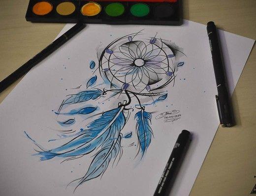 watercolor-dreamcatcher-tattoo