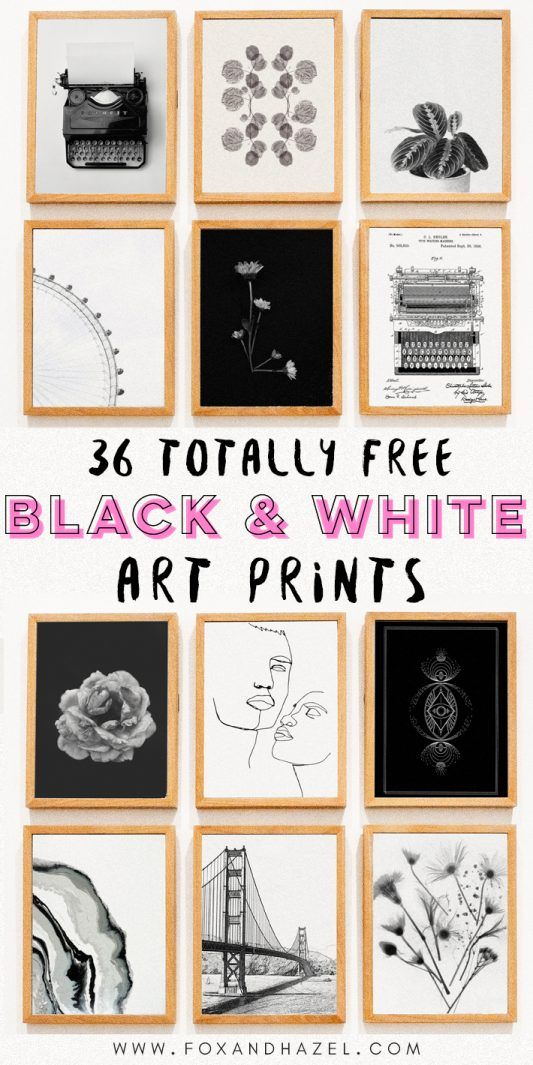 33 MORE Totally Free Modern Art Printables For Your Walls - Fox + Hazel