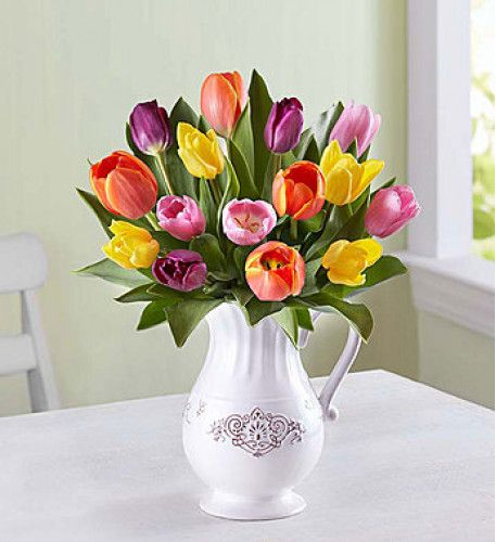 Welcome Spring With Our Bright Tulips Flowers Bouquet Order Flowers Online Send Flowers Online Flowers Online