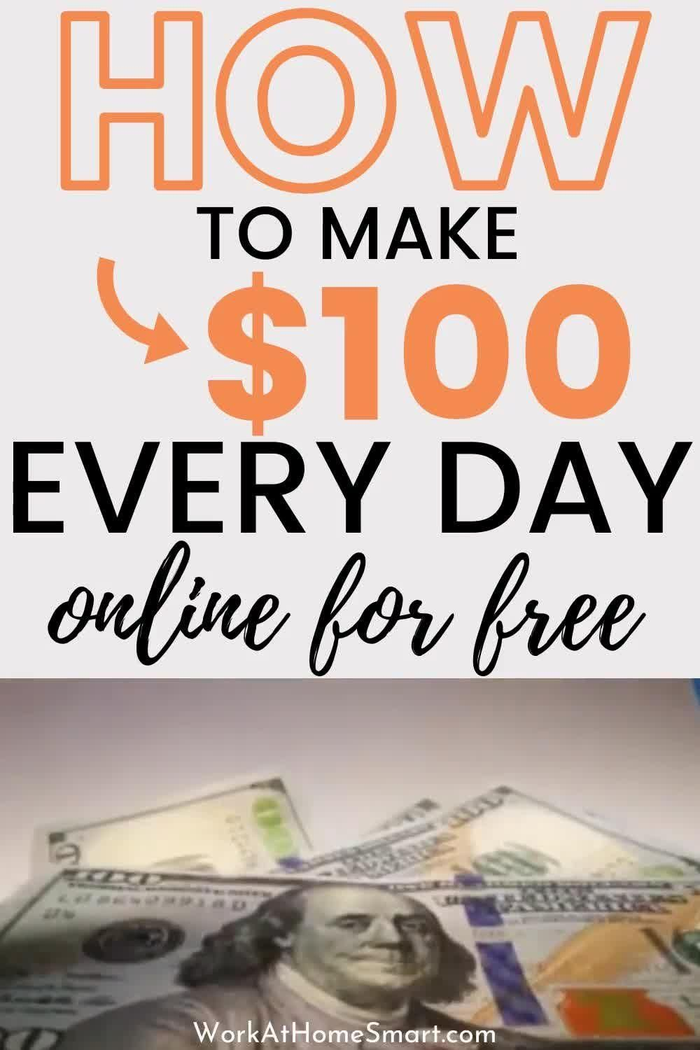 The internet has opened up so many opportunities to make money from home. Here are 15 websites and apps that will make you $100 per day online.