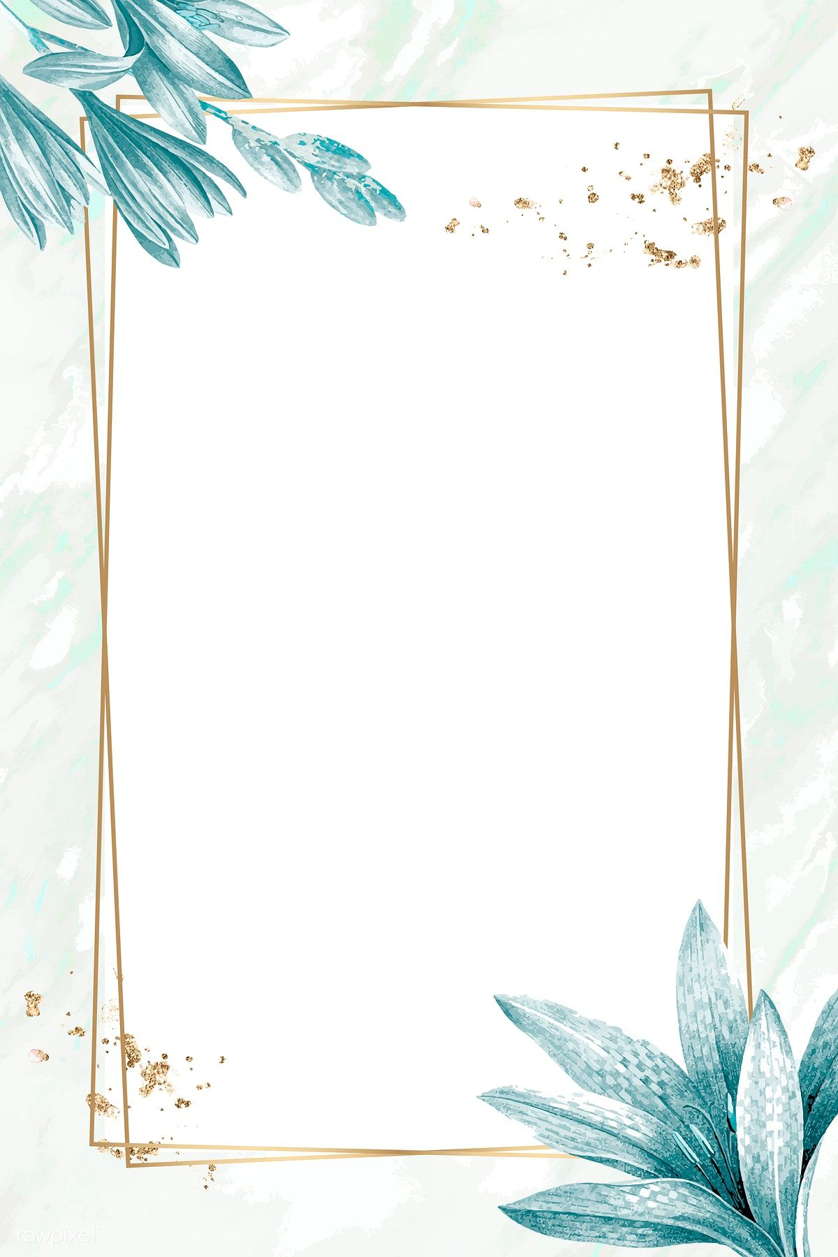 Download Premium Vector Of Golden Rectangle With Floral Frame Vector Flower Background Wallpaper Flower Background Iphone Flower Graphic Design