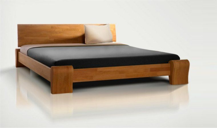 Lit 2 Personnes Bois Massif Bedroom Bed Design Bed Furniture Wood Bed Design