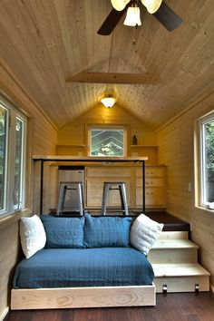 Tiny House On Wheels With A Slid Out Bed That S Under The Kitchen Designed And Built By Home Builders
