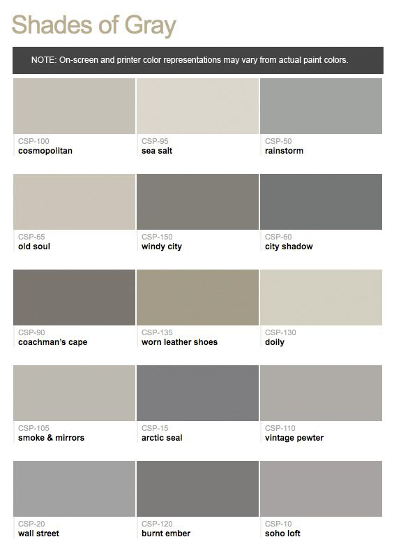Paints from hirshfield 39 s benjamin moore color stories Shades of grey interior paint