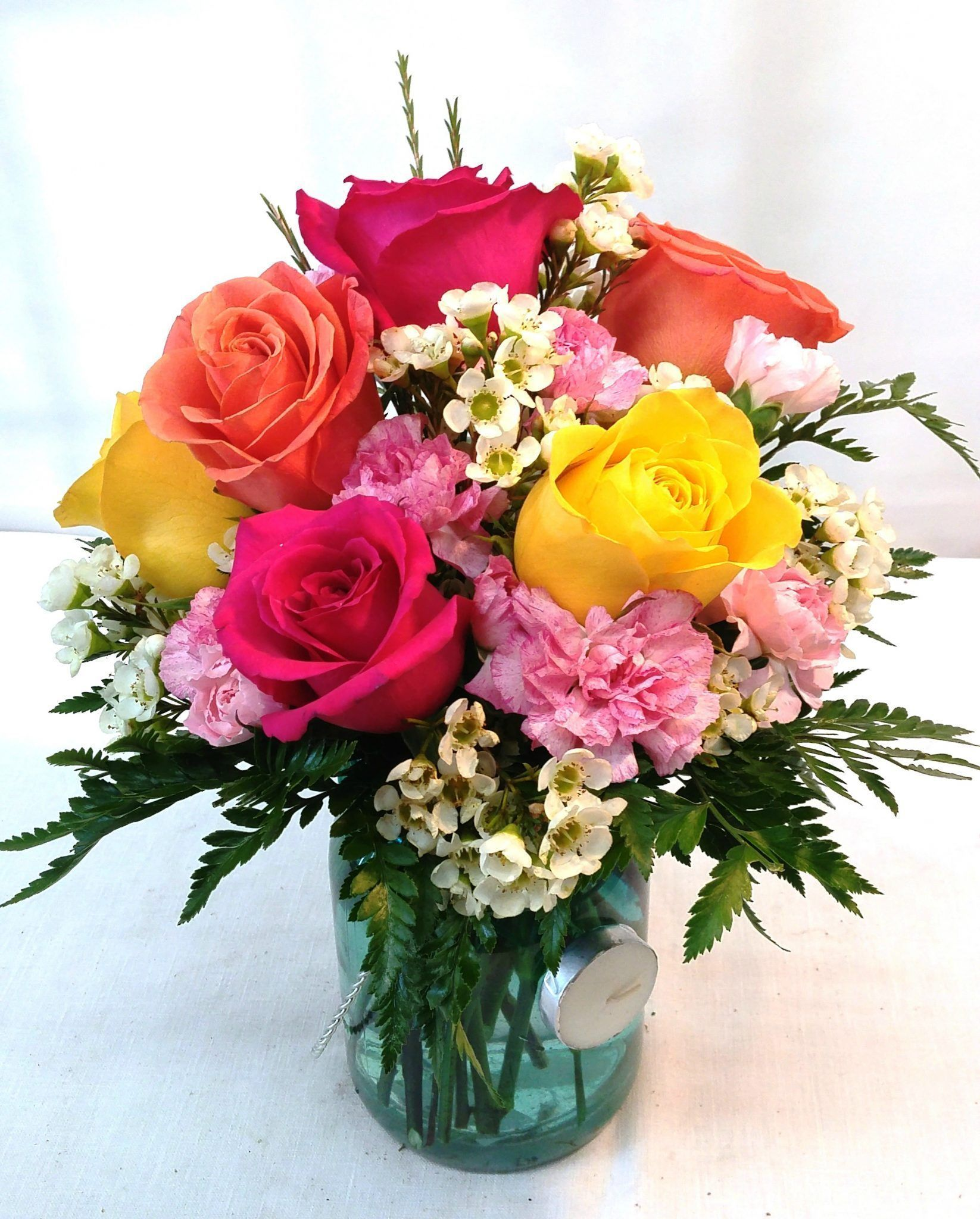 Garden bouquet v1131 with images funeral flowers diy