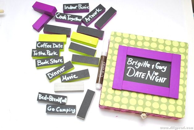 Looking for a creative and crafty way to keep date night with your partner fun and fresh? Check out this customizable date night box tutorial