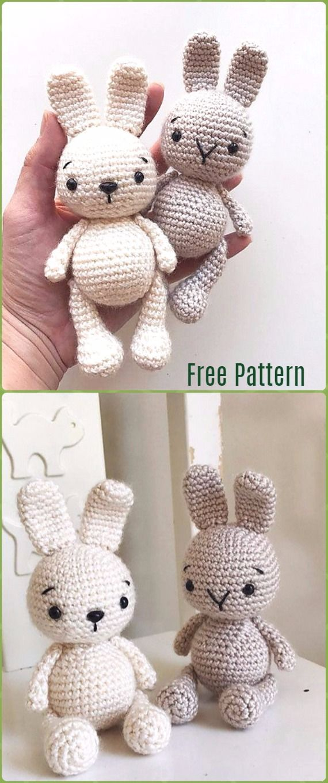 Crochet Amigurumi Bunny Toy Free Patterns Instructions   Ganchillo ...