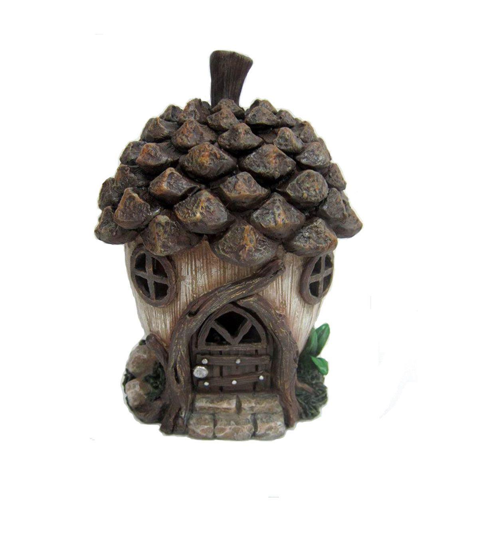 fairy garden resin acorn house gardens u0026 outdoor decor with