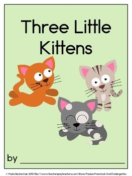 Three Little Kittens Class Book With Sight Words Kindergarten