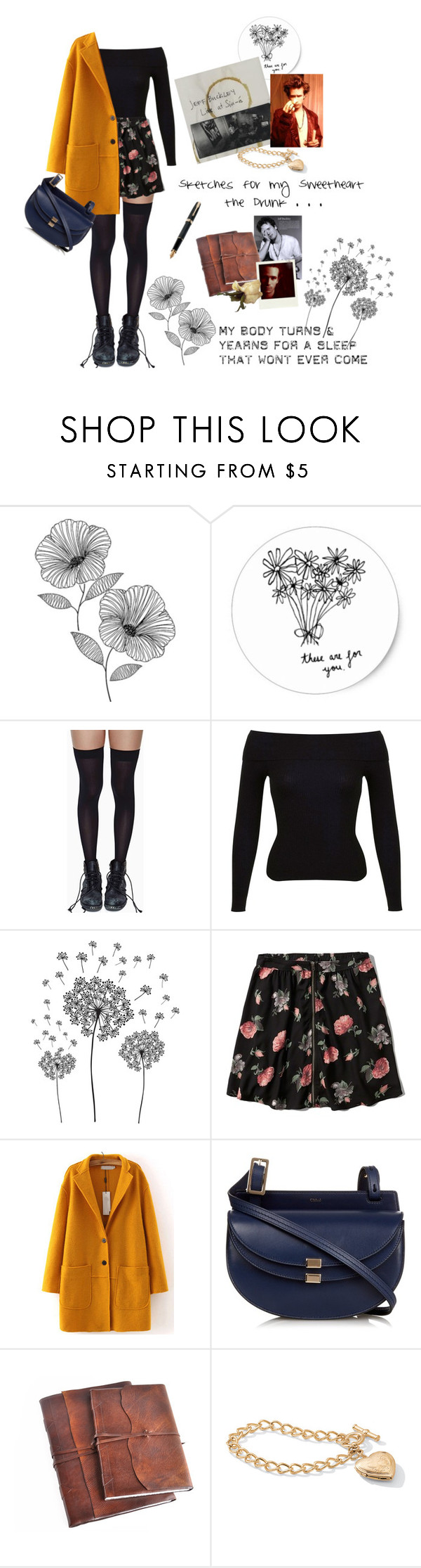 """Sketches for my Sweetheart the Drunk"" by dandelionapril ❤ liked on Polyvore featuring WallPops, Leg Avenue, Miss Selfridge, jcp, Abercrombie & Fitch, WithChic, Chloé, Fountain and Palm Beach Jewelry"