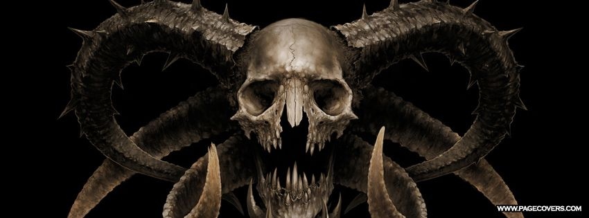 Demon skull facebook cover books worth reading skull - Devil skull wallpaper ...
