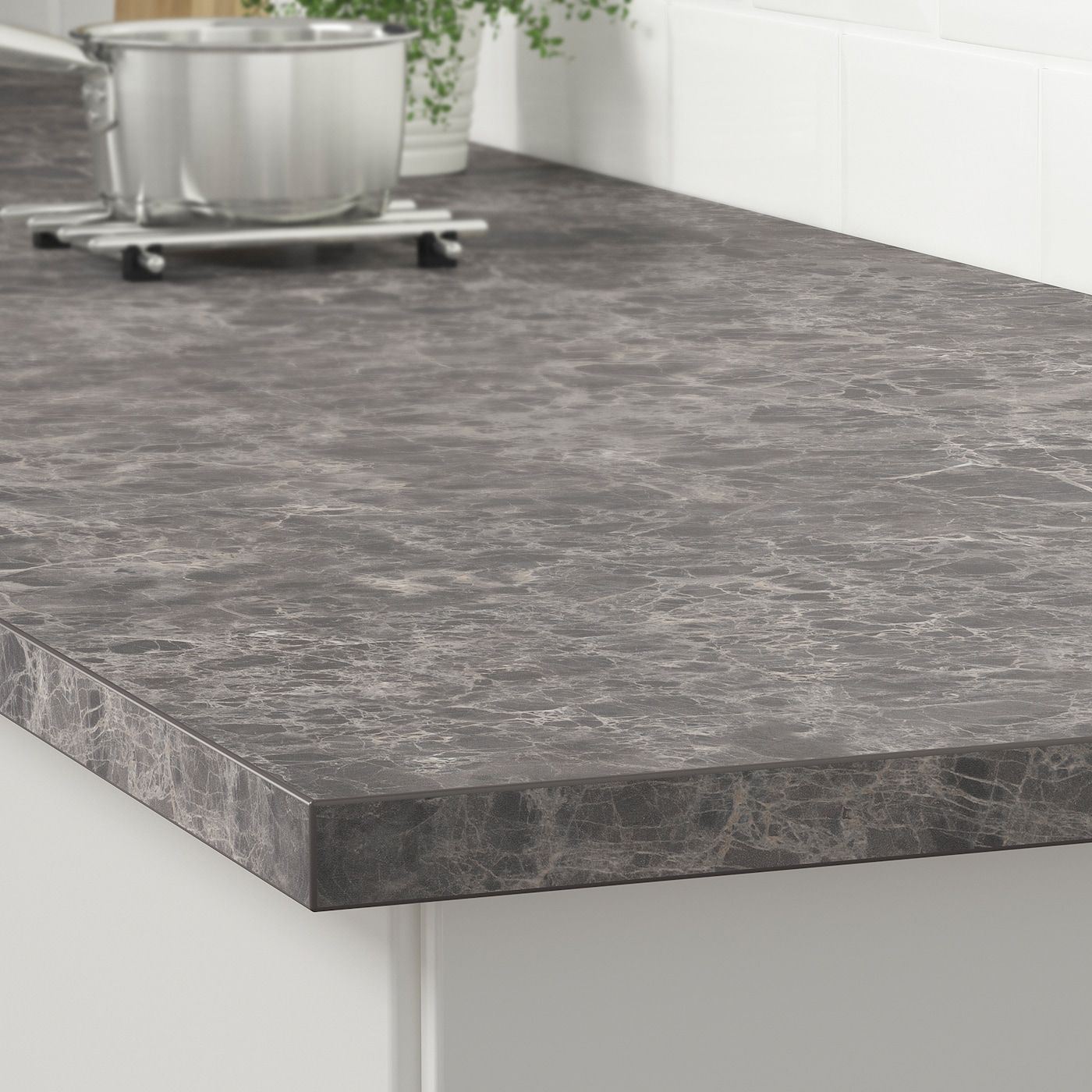 Ekbacken Countertop Dark Gray Marble Effect Laminate Marble Effect Laminate 74x1 1 8