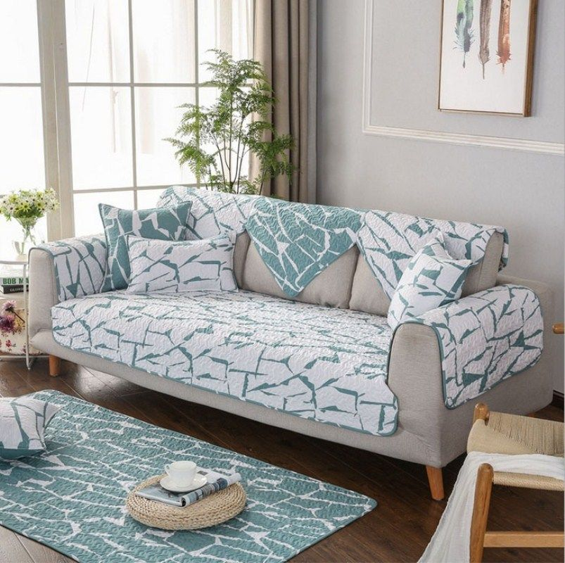 Corner Sofa Protective Case Sofa Cover Couch Covers Quilted Twill Cotton  Sofa Cushion Fabric Non