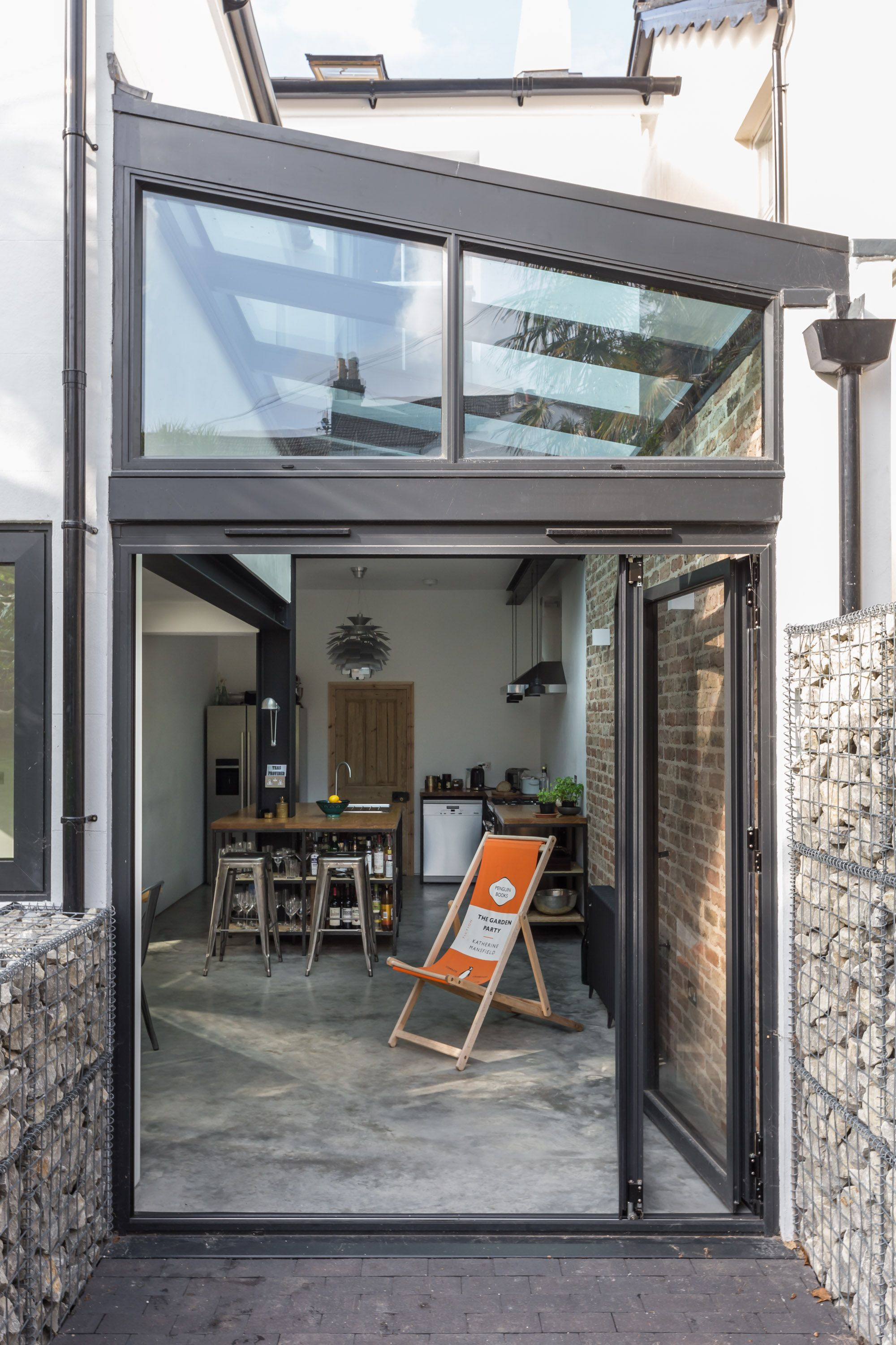 contemporary glass side extension | open plan | glass roof | folding ...