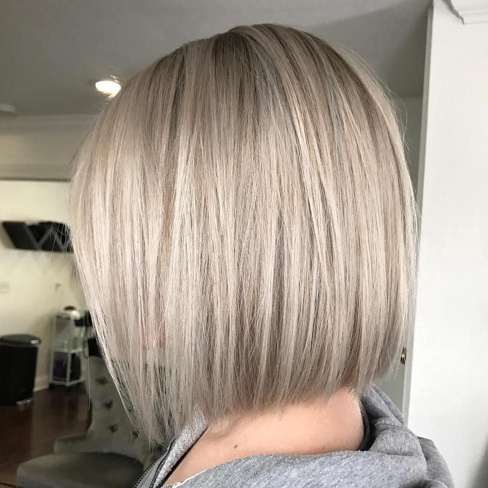 70 Winning Looks with Bob Haircuts for Fine Hair | Bob cut, Platinum ...