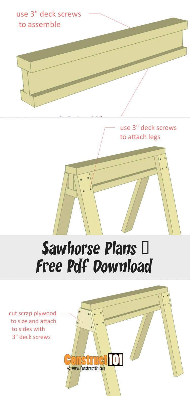 Sawhorse Plans Free Pdf Download Lilly's Blog in 2020