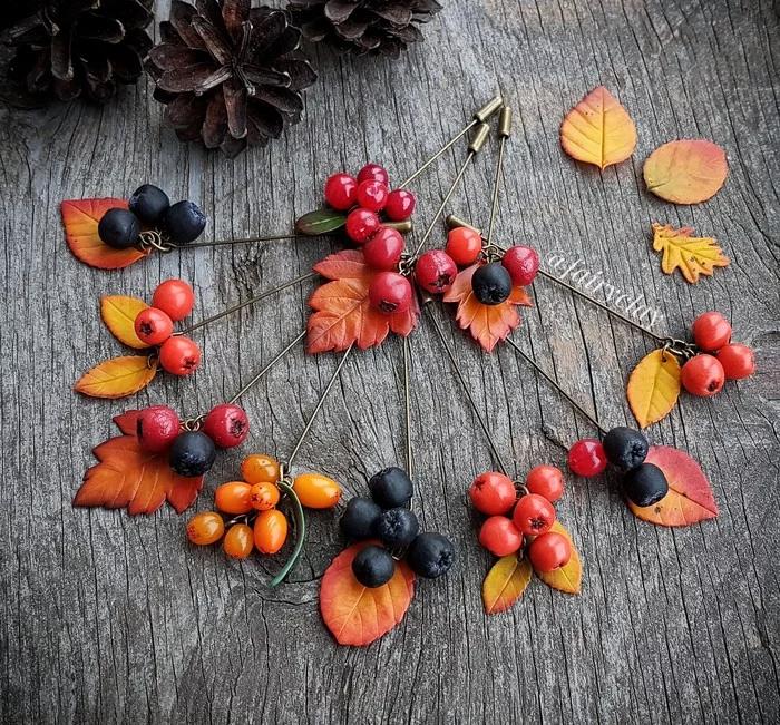 Осенние краски | Полимерная глина, Цветы из полимерной ...