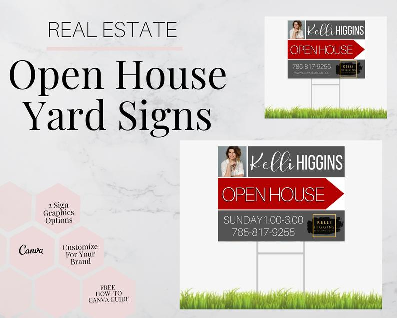 Open House Yard Sign 1 Real Estate Sign Open Houses Real Etsy Real Estate Signs Open House Open House Real Estate