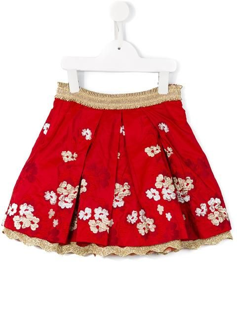 Quis Quis floral embroidered skirt