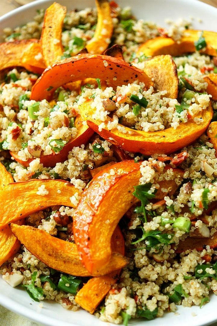 Hokkaido Pumpkin on Quinoa Salad Recipe Elle Republic -  Roasted hokkaido pumpkin on quinoa salad r