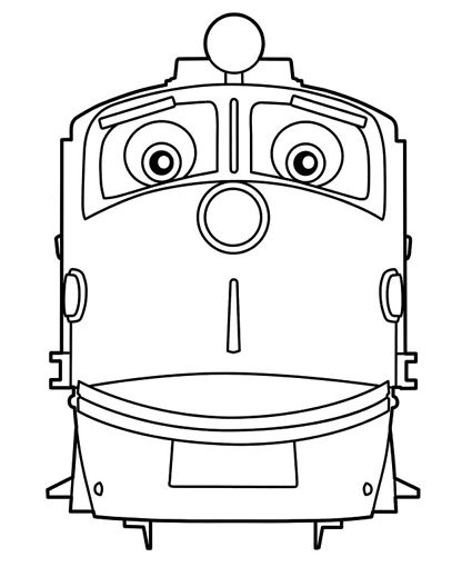 Chuggington coloring pages for kids to color during the for Disney chuggington coloring pages