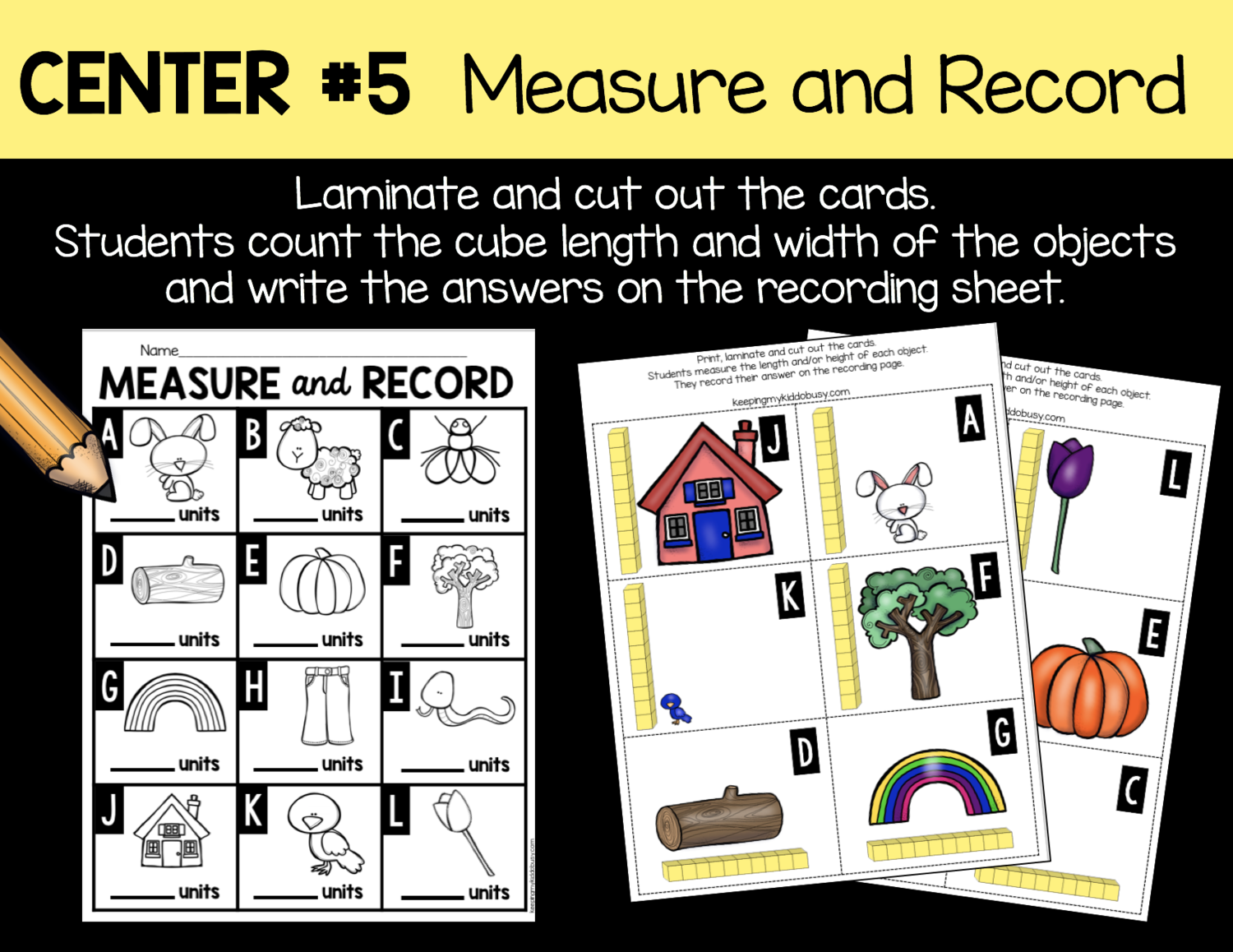Measurement And Data Kindergarten Math Unit
