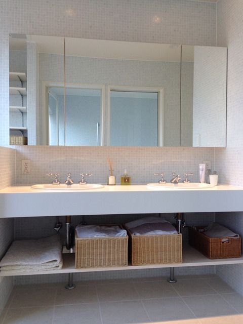 Don T Think F E E L 大浦比呂志の五感で感じる暮らし 洗面所 インテリア おしゃれ バスルームのデザイン 造作 洗面台