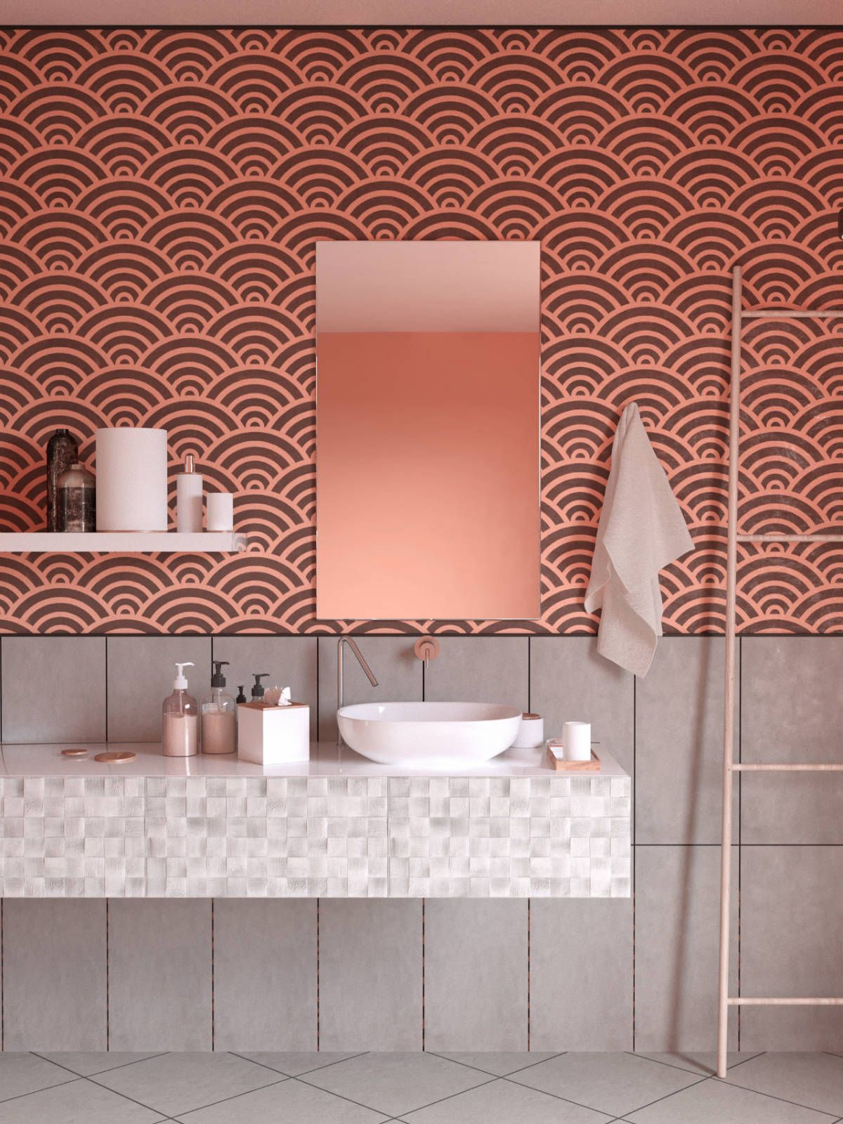 We had pink plastic tiles in parent's 1st house, bulit ...