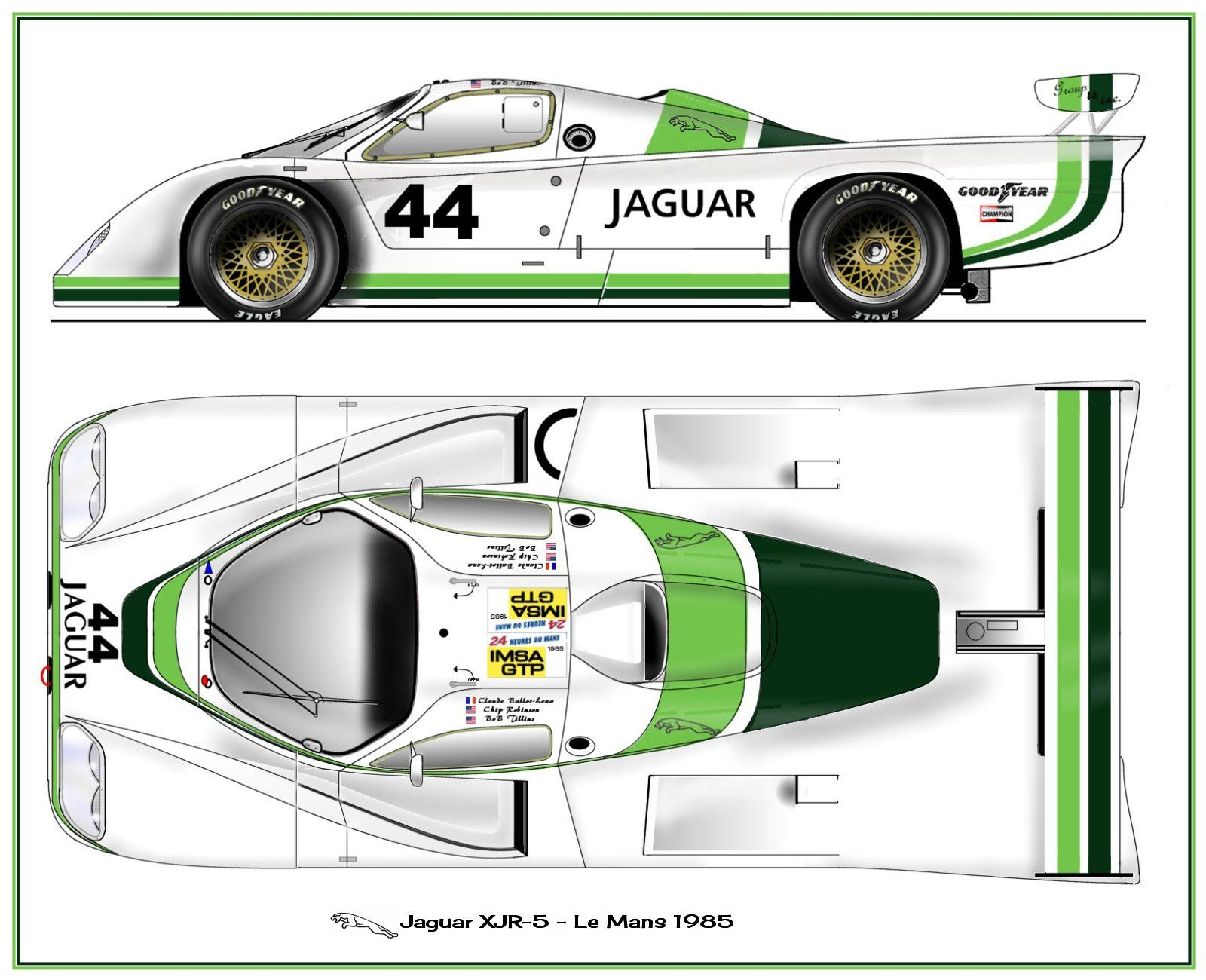 jaguar xjr 5 1985 le mans racing cars in profile pinterest carrera coches de carreras y. Black Bedroom Furniture Sets. Home Design Ideas