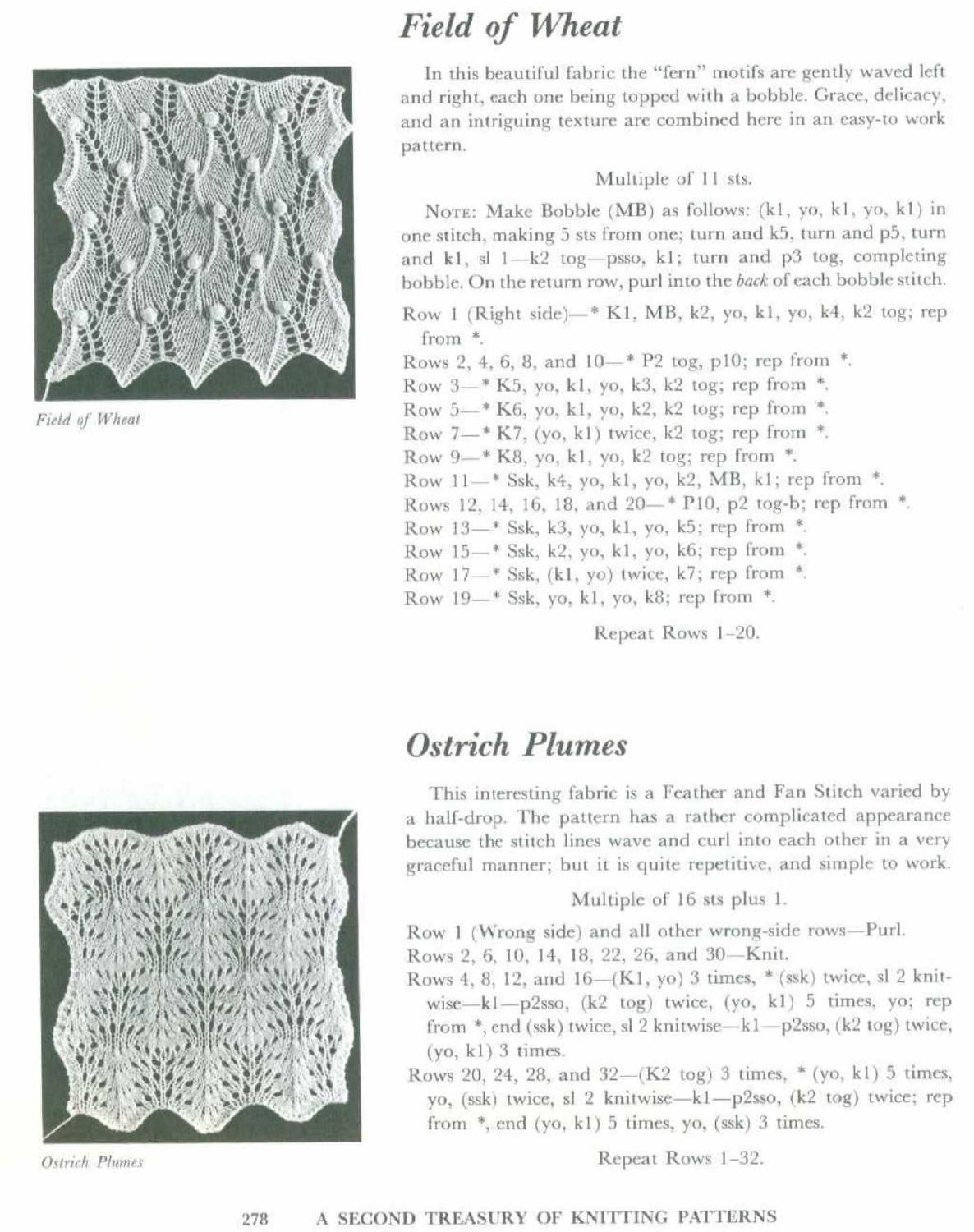 A second treasury of knitting patterns by Barbara G ...