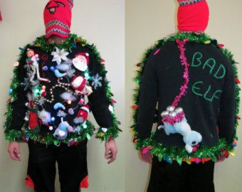 3D tacky Nauthy funny CUSTOM MADE by order 3D ugly Christmas sweater any size