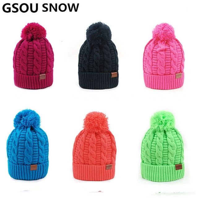 ef5d0264 Gsou Snow Ski Hat Winter Thermal Windproof Snowboard Caps For Men For Women  Outdoor Ski Sports Camping Knitted Hats Review