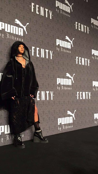 Rihanna at her PUMA fashion show in New York for New York Fashion Week