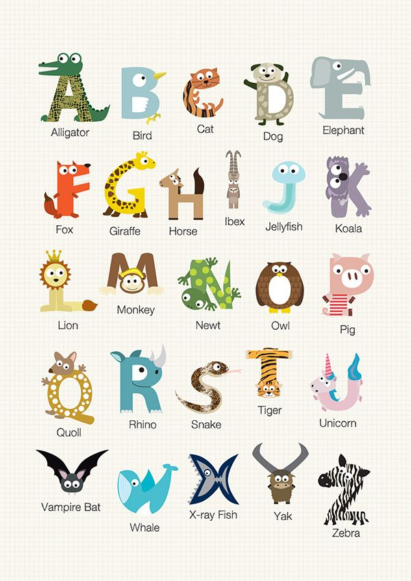3 letter animals alphabet animal recherche lettering 25786