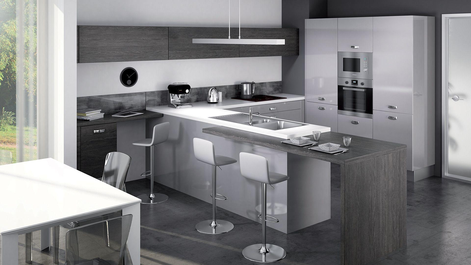 cuisine quip e light style design disponible en 5. Black Bedroom Furniture Sets. Home Design Ideas