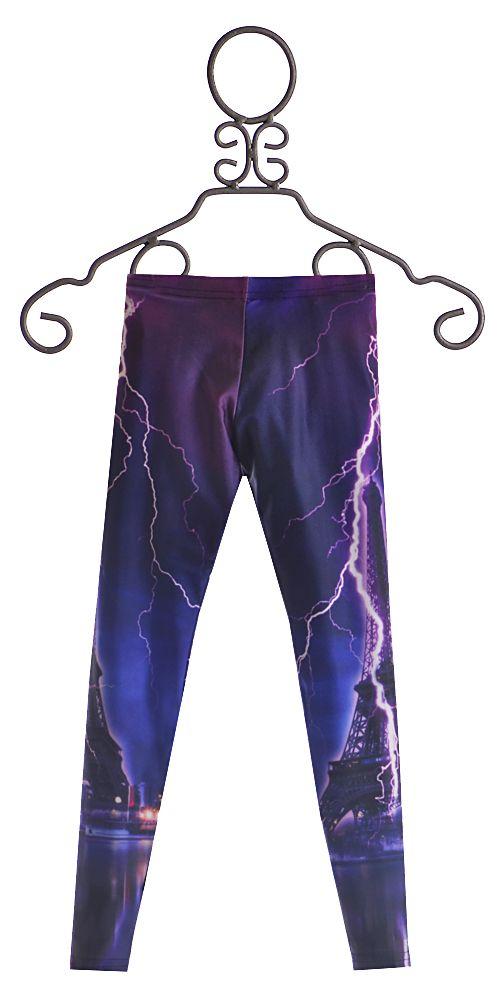 Zara Terez Paris Leggings for Girls with Lightning Bolts ...
