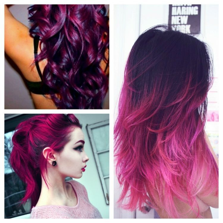 Image result for hair Purple color