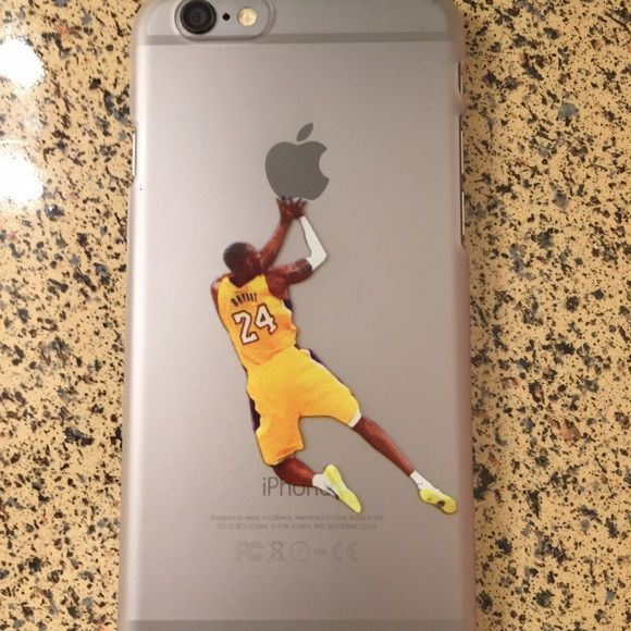 Kobe Bryant fade away iPhone 6/6S clear case Plastic