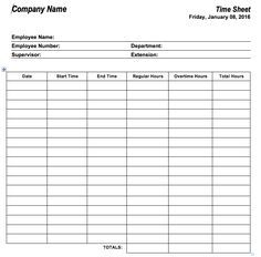 6 free timesheet templates for tracking employee hours self help