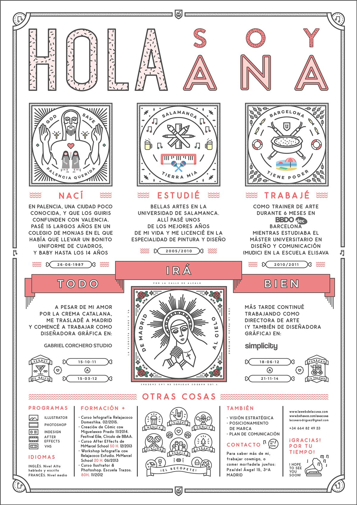 https://www.behance.net/gallery/25530731/Curriculum-Ana-Cuna | icon ...